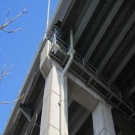 Fiberglass Bridge Downspout Fabrication